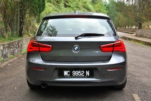 BMW 118i Sport F20 Facelift Rear View, Malaysia