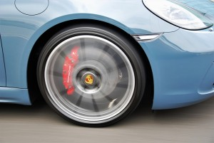 Porsche 718 Boxster S Front Wheel In Motion