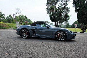 Porsche 718 Boxster S Side View