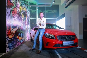 Mercedes-Benz Malaysia Mark Raine with the A-Class Urban Hunting Activity Edition
