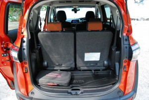 Toyota Sienta Rear Cargo Space, All Seats Up, Malaysia