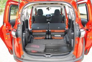 Toyota Sienta 1.5 2nd Row Seat Folded Down, Malaysia