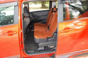 Toyota Sienta 1.5 2nd Row Seats