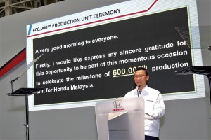 Honda Malaysia 600,000th production unit, Mr Katsuto Hayashi
