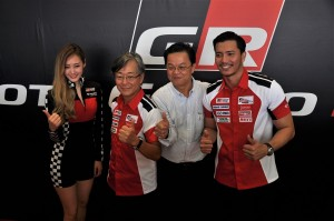 Akio Takeyama UMW Toyota With Local Celebrity, Toyota Gazoo Racing Vios Challenge
