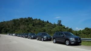 VW Tiguan Convoy, Malaysia Drive 2017