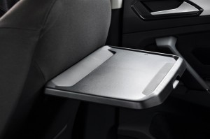 Volkswagen Tiguan Rear Tray Table Fully Extended, Malaysia 2017
