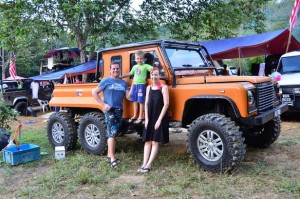 Stu, who came with his family and his 6-wheel-Drive Land Rover.