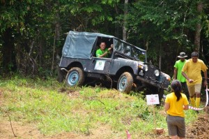 Yamin Vong in his Series 1 Land Rover.