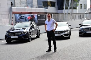 Mark Raine, Mercedes-Benz Malaysia VP of Marketing with some of the AMG 43 cars