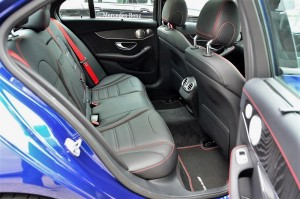 Mercedes AMG C 43, rear seats YSK_6037