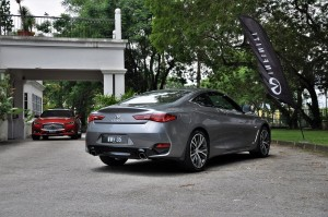 Infiniti Q60 Dynamic Sunstone Red & Graphite Shadow, Malaysia Media Drive 2017