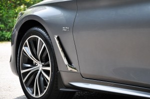 Infiniti Q60 Front Fender Vent, Malaysia Media Drive 2017