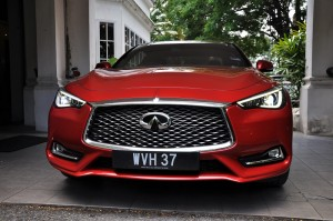 Infiniti Q60 Front View Lights, Malaysia Media Drive 2017