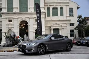 Infiniti Q60 Graphite Shadow, Malaysia Media Drive 2017 Penang