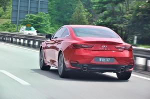 Infiniti Q60 Rear View, Malaysia Media Drive 2017