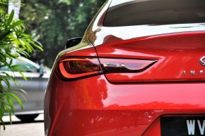 Infiniti Q60 Red Rear Light, Malaysia Media Drive 2017