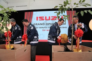 Tree Planting By Executives, Isuzu Service Center Official Launch, Shah Alam Malaysia 2017