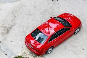 Audi A4 2.0 TFSI Quattro Tango Red Top View, Malaysia Media Drive 2017 Janda Baik