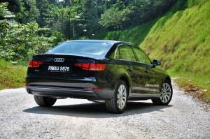 Audi A4 1.4 TFSI Rear, Malaysia Media Drive 2017 Janda Baik