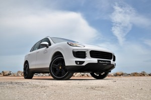 Porsche Cayenne Platinum Edition Bottom Up Front View Malaysia Test Drive 2017
