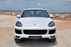 Porsche Cayenne Platinum Edition Front Malaysia 2017