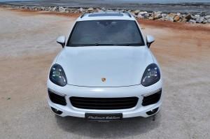 Porsche Cayenne Platinum Edition Front Malaysia Test Drive 2017