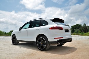 Porsche Cayenne Platinum Edition Rear Malaysia Test Drive 2017