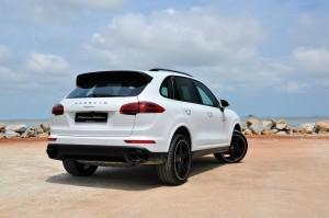 Porsche Cayenne Platinum Edition Rear View Malaysia 2017