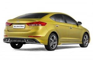 Hyundai Elantra Dynamic Rear Malaysia 2017