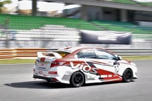 Toyota Vios Challenge Car, Rear View, Sepang Malaysia 2017, Toyota Gazoo Racing, Wing Hin Motorsports