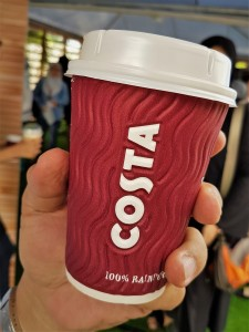 Costa Coffee Cup, Shell Select Convenience Store, Petrol Station, Malaysia