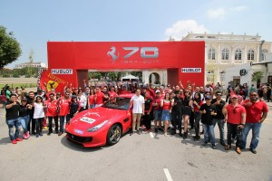 Ferrari Owners at Penang City Hall - Ferrari 70th Anniversary, Malaysia 2017