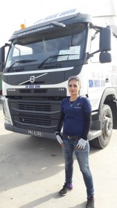 Junaidah works as a truck driver, a job dominated by men