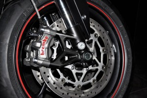 Triumph Street Triple RS Motorcycle, Front Brake, Malaysia 2017