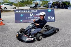 Malaysia Autoshow Karting Slalom 2017 Datuk Madani