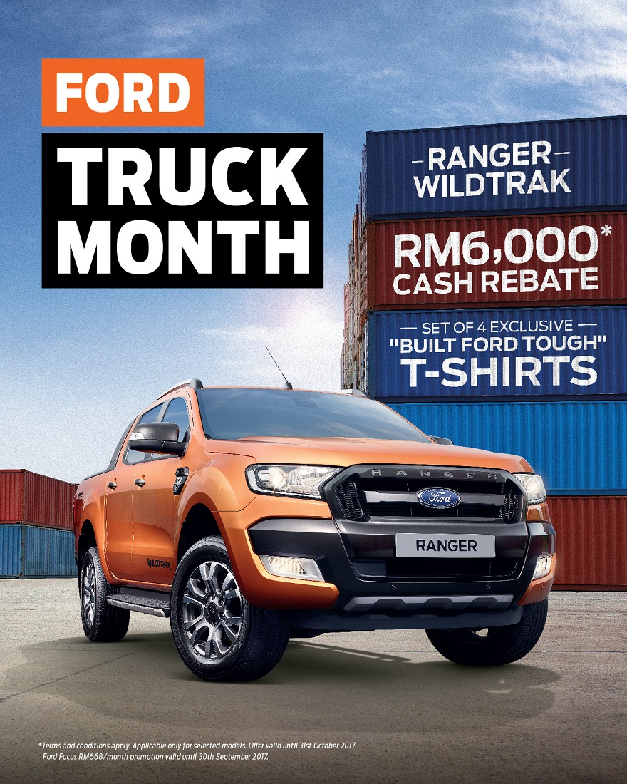 Ford Focus Settlement >> Ford Ranger WildTrak Offers During Ford Truck Month - Autoworld.com.my