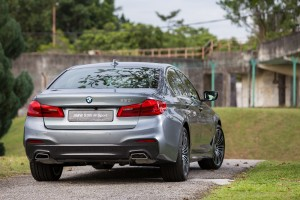 BMW 530i M Sport Rear View, Malaysia 2017