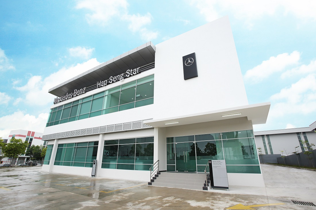Hap seng star officially launches mercedes benz autohaus for Mercedes benz service centre