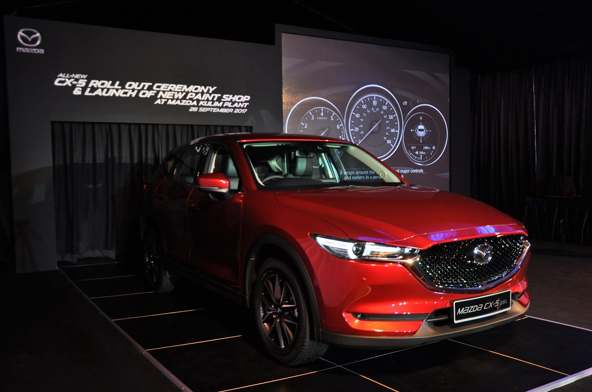 Mazda shows off malaysia assembled new cx 5 and new paint for Car paint shop prices