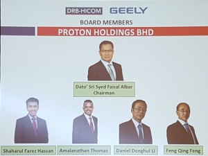 Proton Holdings Berhad Board Members 2017
