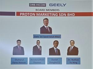 Proton Marketing Sdn Bhd Board of Directors 2017