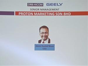 Proton Marketing Sdn Bhd CEO