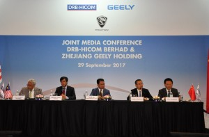 DRB-HICOM Zhejiang Geely Holding Joint Press Conference 2017