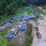 Ford Ranger Owners Club Borneo Region Ulu Engkuah, Sarawak Campsite Aerial View