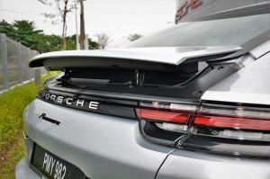 Porsche Panamera Rear Spoiler Raised, Malaysia 2017