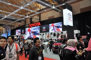 The Toyota Pavilion at the 2017 Malaysia Autoshow @ MAEPS
