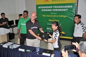 MisterTyre & TOC Automotive College Internship Programme Signing Ceremony, Malaysia