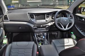 Hyundai Tucson Turbo Dashboard, Malaysia Test Drive 2017