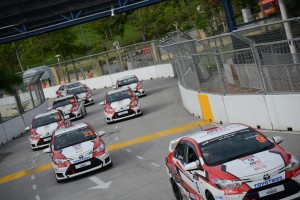 The Vios Challenge cars in action